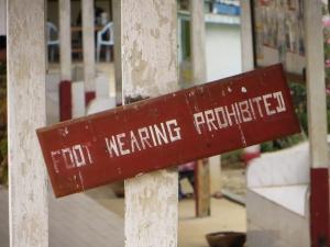 Fuß tragen verboten