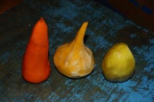 die drei Gemüsesorten Monoliens