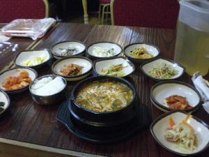 koreanisches Essen im Restaurant Mama