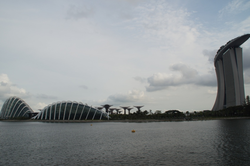 Gardens by the bay und Marina Bay Sands Hotel