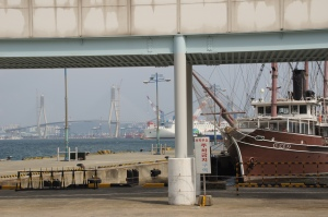 Kopie der Köhlbrandbrücke in Busan