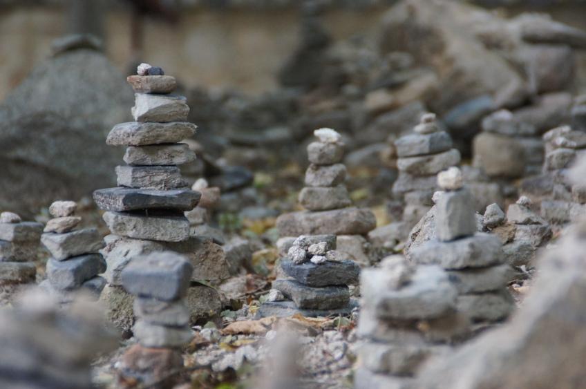 buddhistische Steinhaufen