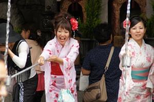 Damen im Kimono