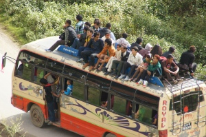 lokaler Bus in Nepal