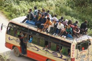 lokaler Bus in Nepal
