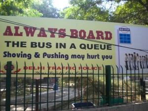 Regeln für die Bus-Schlange