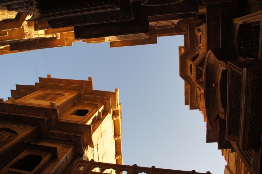 Gebäude-Tetris in Jaisalmer