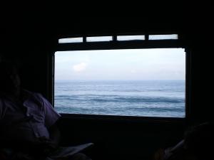 Zug mit Meerblick