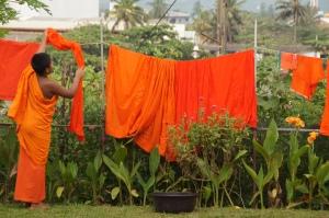 reinlicher Mönch beim Waschtag