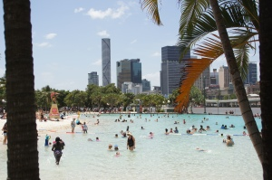Stadtstrand in Brisbane