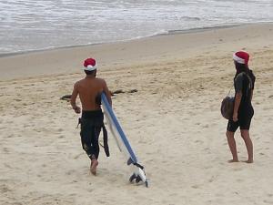Weihnachtssurfer am Bondi Beach