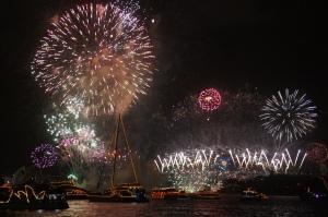 Feuerwerk im Sydney Harbour