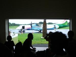 Gepäckausgabe in Vanuatu