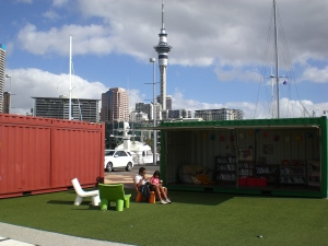 Aucklands Hafenlesestube