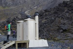 Klohäuschen beim Tongariro Crossing