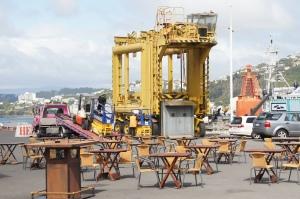 Café im Hafen von Wellington